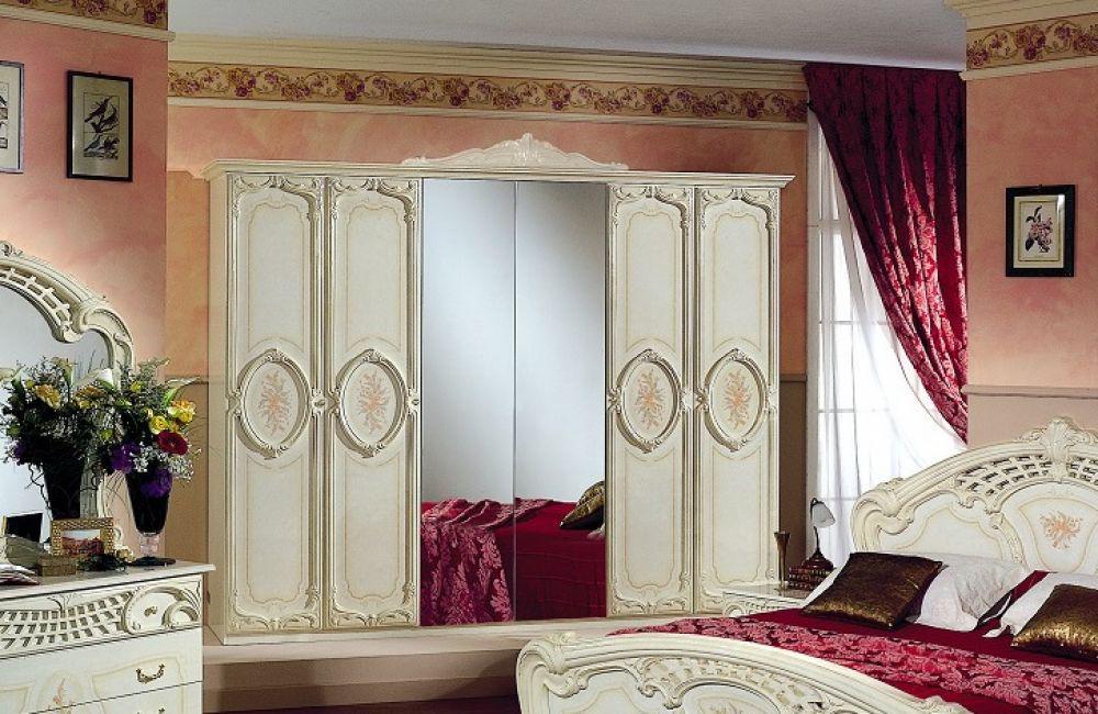 Schlafzimmer Rozza Beige Creme Italien Klassik Barock Design