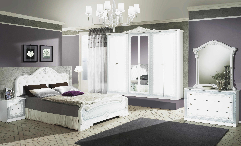 Schlafzimmer Set Lion in Weiss Barock Design - Kaufen bei KAPA Möbel