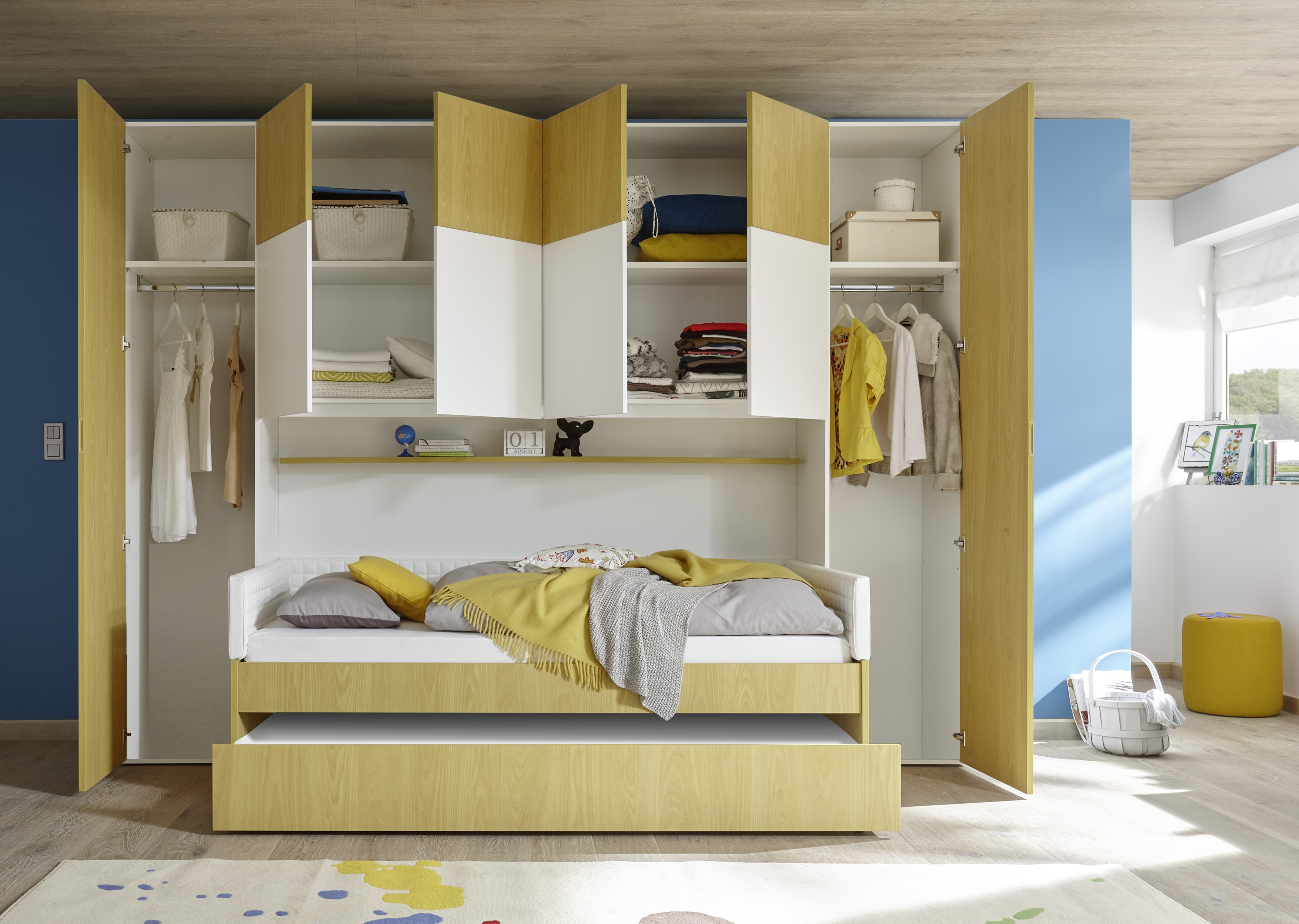 Kinderzimmer Set Enjoy-it Schrankelement inkl Bett 120x200cm in verschieden  Farben - yatego.com