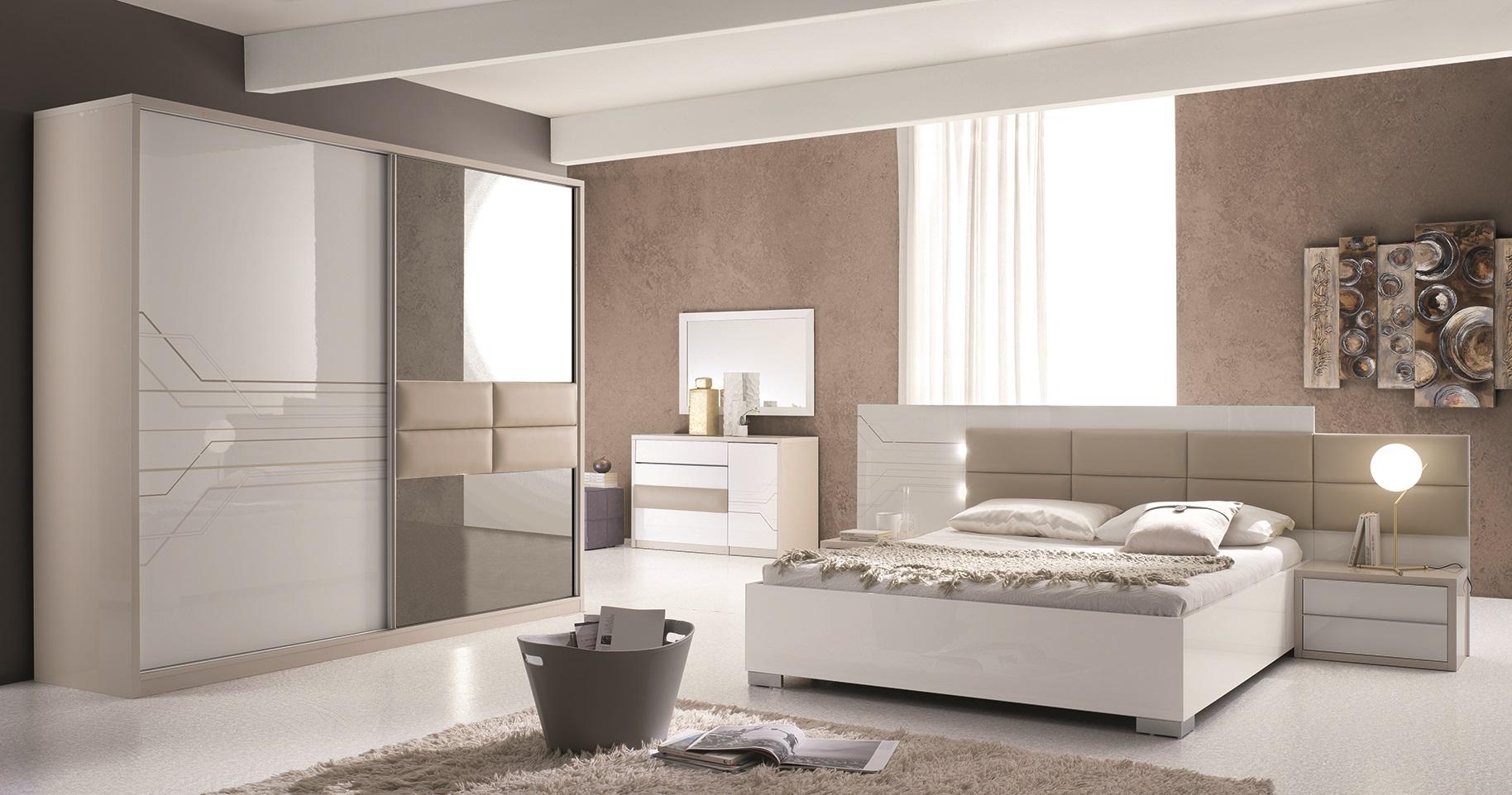 Schlafzimmer Set Tijana in Beige Weiss Modern Design - Kaufen bei ...