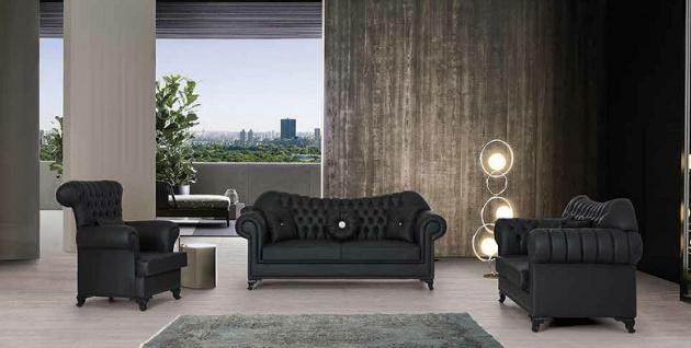 Sofa Couch Set Paris 3+2+1 mit Schlaffunktion