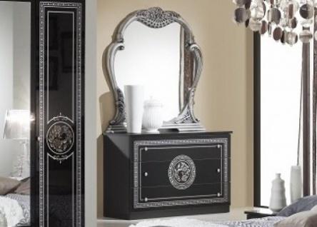 Kommode Mit Spiegel Liara In Schwarz Silber Klassisch Orientalis