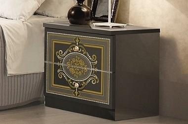 Nachtkonsole Alice in schwarz gold f?r Schlafzimmer