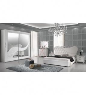Schlafzimmer Gisell in weiss Edel Luxus Schlafzimmer 4tlg - Kaufen ...