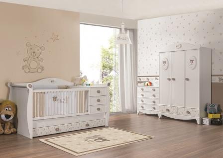 Babyzimmer Rabbit in weiss 3tlg 3trg. Kleiderschrank