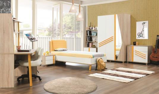 Kinderzimmer Street in gelb weiss Holzoptik Jugendzimmer