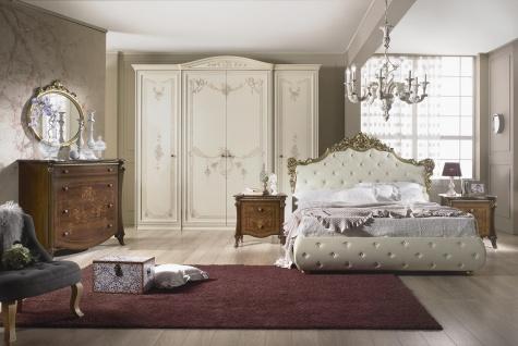 Schlafzimmer Set Compose in Barock Design 160x200 cm / mit Kommode und Spiegel