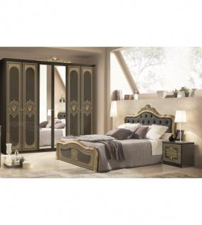 Schlafzimmer Alice In Schwarz Gold Barock 160x200cm 4tlg Kaufen