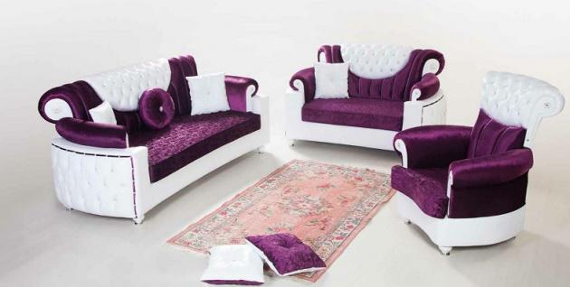 Sofa Couch Set Saray 3+2+1 mit Schlaffunktion