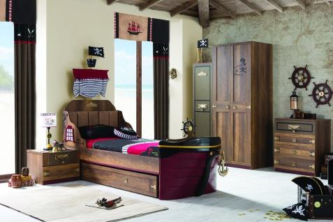 Kinderzimmer Korsan Pirat in braun mit Schiffsbett