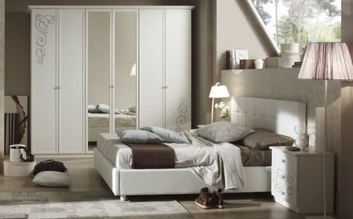 Schlafzimmer Matilee in weiss elegante Möbel 4tlg