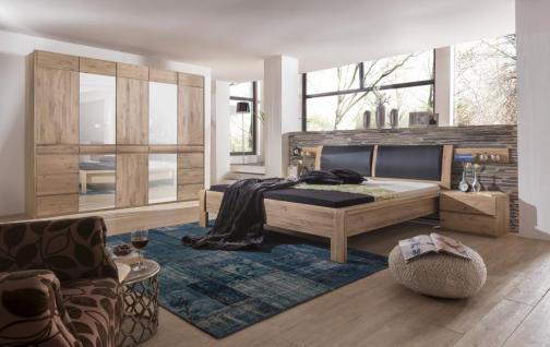 Schlafzimmer Olla Asteiche Bianco massiv Design Bett Schrank