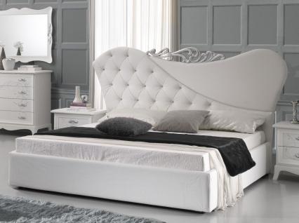 Bett 160x200cm Gisell in weiss Edel Luxus Schlafzimmer