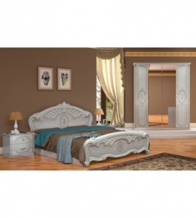 Schlafzimmer Florenz Beige Creme Bett 160x200 Cm Italienisch 4tl