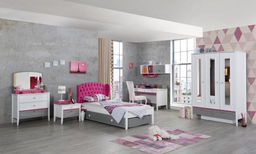 M?dchenzimmer Kinderzimmer Laila in Wei? Pink