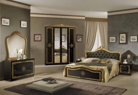 Schlafzimmer Lucy in schwarz gold klassisch Designer Luxus Möbel ...