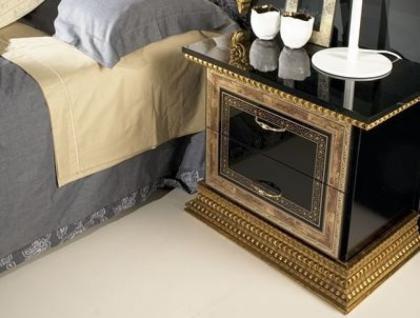 Nachtkonsole Jenny in schwarz Gold Black Luxus Edel