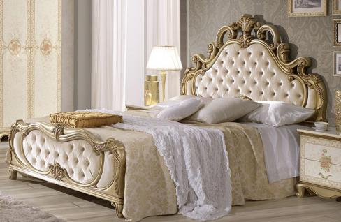 Bett 160x200 cm Tatjana in Beige Gold