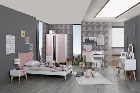 Mädchen-Kinderzimmer Set Diane in Weiß-Pink