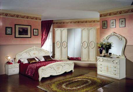 Schlafzimmer Rozza beige creme Italien Klassik Barock Design - Kaufen bei KAPA Möbel