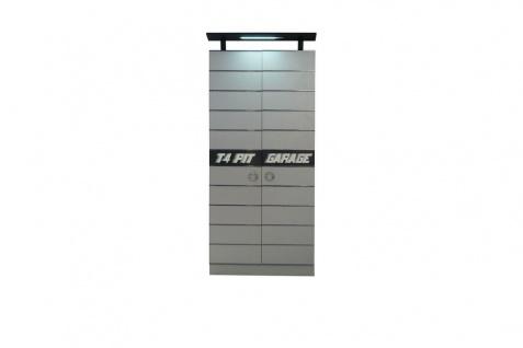 Kleiderschrank Garage 2-türig in Grau
