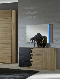 Kommode mit Spiegel Mozart in Buche Optik Modern Design