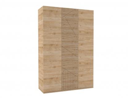 Kleiderschrank Holzoptik Origami 3-t?rig