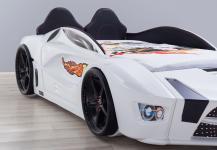 Autobett Turbo Racer in weiss mit LED und Polsterung