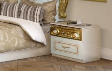 Nachtkonsole Rozza weiß gold Italien Klassik Barock Design