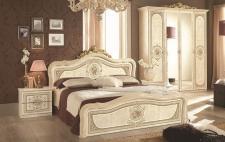 Schlafzimmer Alice in creme beige Barock 160x200cm