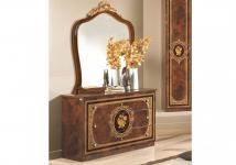 Kommode mit Spiegel Alice in Walnuss Gold Schlafzimmer