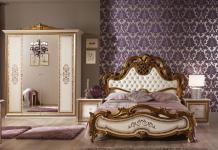 Schlafzimmer Anja beige Italien König Barock Bett 180 King Kls 4