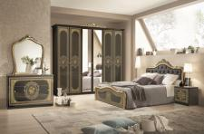 Schlafzimmer Alice in schwarz Gold Barock 160x200cm
