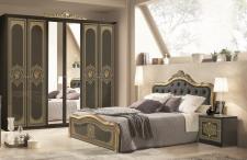 Schlafzimmer Alice in schwarz Gold Barock 160x200cm 4tlg