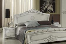 Nachtkonsole Great weiss silber italienisch klassisch Design