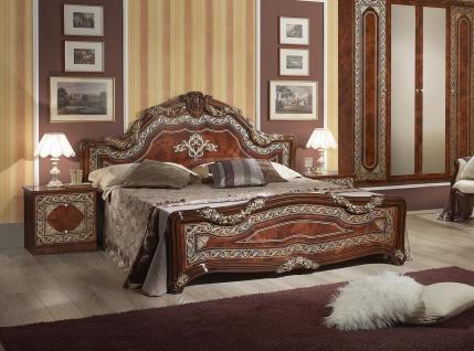Bett Elena in Walnuss Klassisch Design