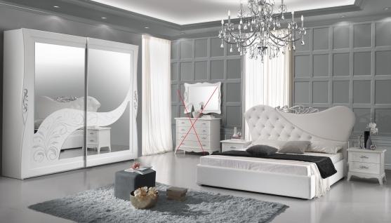 Schlafzimmer Gisell in weiss Edel Luxus Schlafzimmer