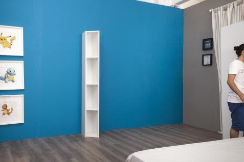 Multimo Bücherregal mit 5 Fächern Cross Weiß
