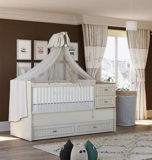 Almila Mitwachsendes Babybett Monte mit Kommode
