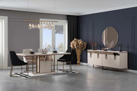 Lidya Esszimmer komplett Collvan mit 6 Stühlen in Creme