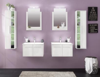 Badezimmer Set Jena 6-teilig in Weiß