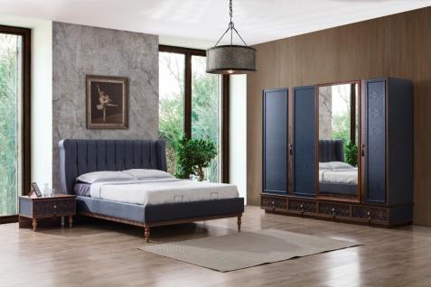 Schlafzimmer Set komplett Varun 4-teilig Blau
