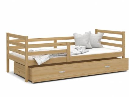 Kinderbett mit Bettkasten Kiefer massiv Rico 90x200