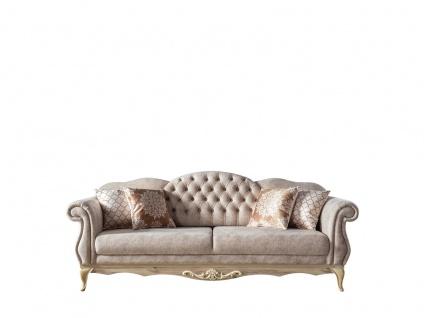 Weltew Sofa Balat 3-Sitzer mit Schlaffunktion in Creme