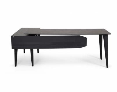 Ovali Design Büroschreibtisch 2-teilig Snap 180x80 cm