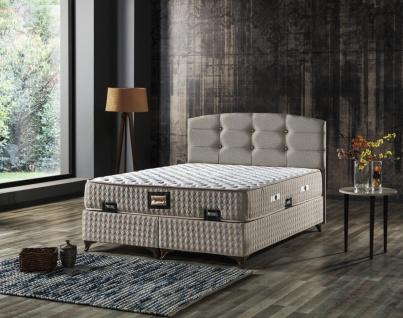 Bett Samba mit Matratze und Bettkasten Beige 100x200