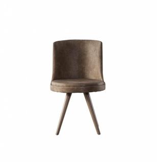 Esszimmer Stühle Boston 6er Set mit Massivholz Beinen