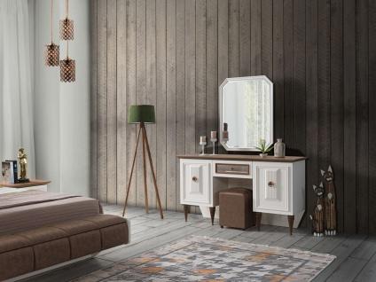 Spiegelkommode Duru mit Sitzhocker in Nubuk Optik