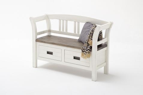 Seona Sitzbank mit 2 Schubkästen in Akazie weiß