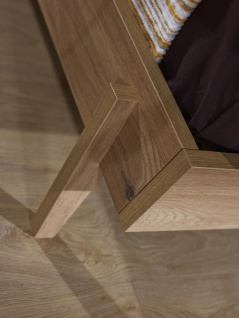 Jugendbett in warmer Holz Optik Origami 120x200 - Vorschau 2